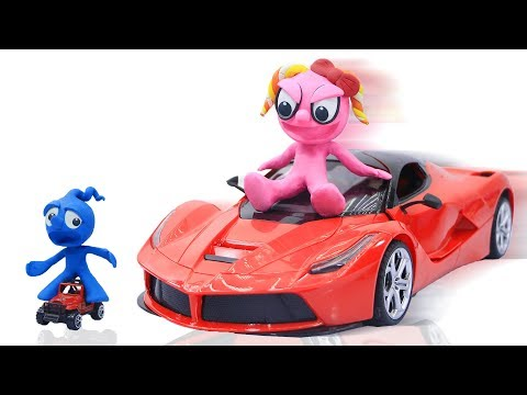 CLAY MIXER: STREET VEHICLE CAR STACK 💖 Play Doh Cartoons For Kids
