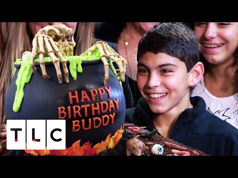 Buddy Junior's Halloween Cauldron Cake  Cake Boss