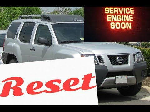 How To Reset Service Engine Soon Light On A 2014 Nissan Xterra Youtube