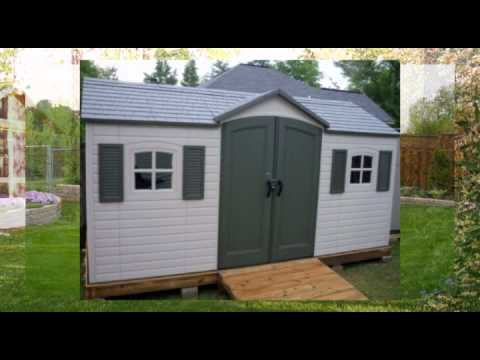 Lifetime 6446 Outdoor Storage Shed - YouTube