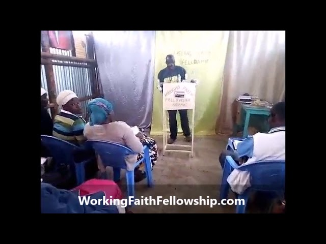 Brother Joseph Shares the Living Word to the Kibera Kenya Brethren
