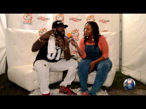 TARRUS RILEY TALKS HE HAS NO TIME FOR CONTROVERSY & MORE @ PALM BEACH JERK FEST
