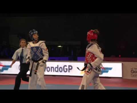 Eva Calvo vs Jade Jones. Final Grand Prix Manchester 2014