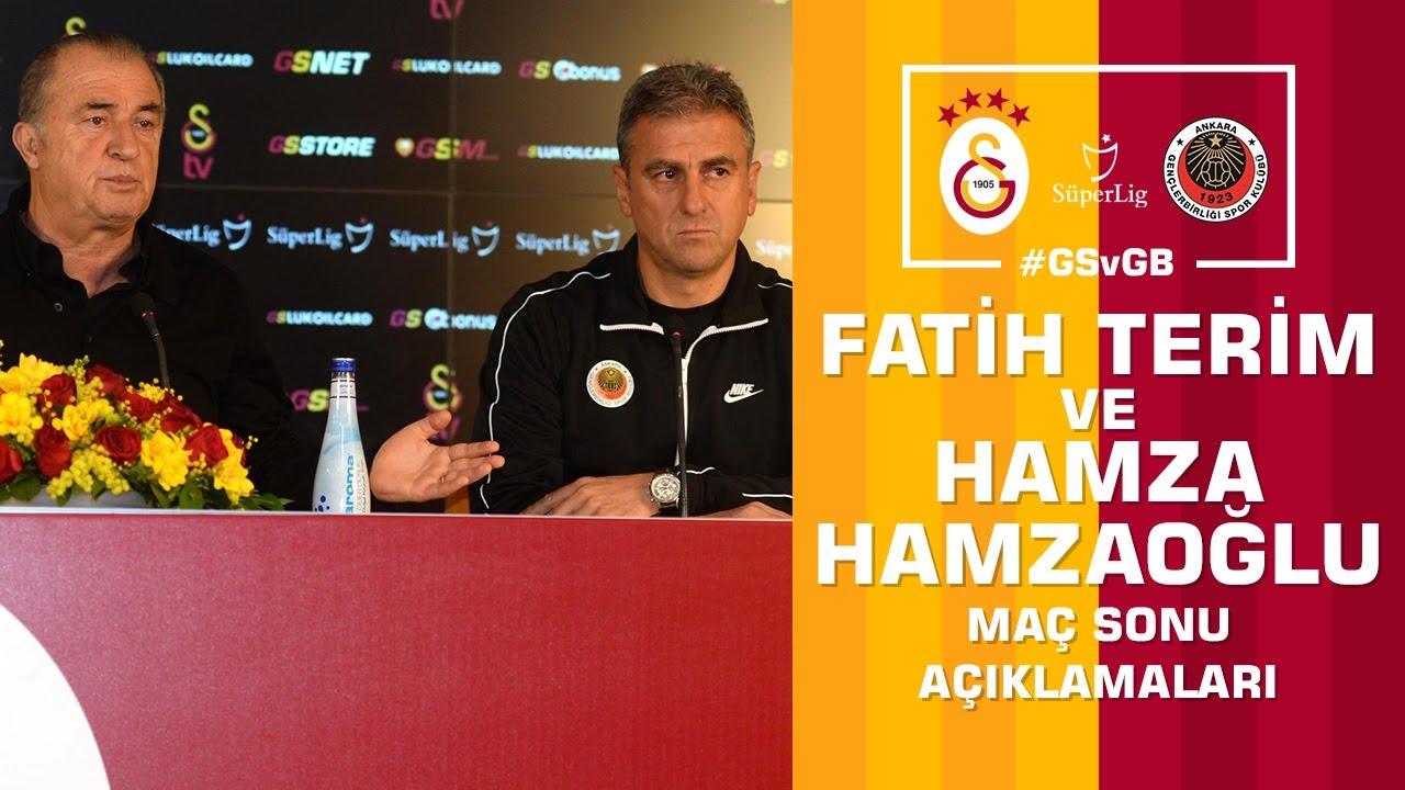 ? Teknik Direktörümüz Fatih Terim ve Hamza Hamzaoğlu'nun Ortak Basın Toplantısı #GSvGB