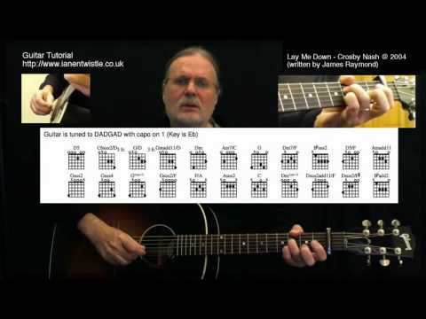 Lay Me Down (Crosby Nash) guitar lesson DVD and tab