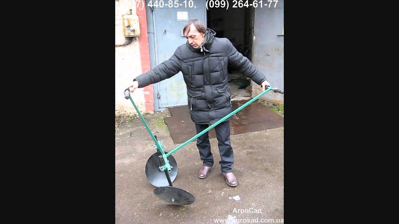 ручной окучник для картофеля www.pole1.ru.avi - YouTube