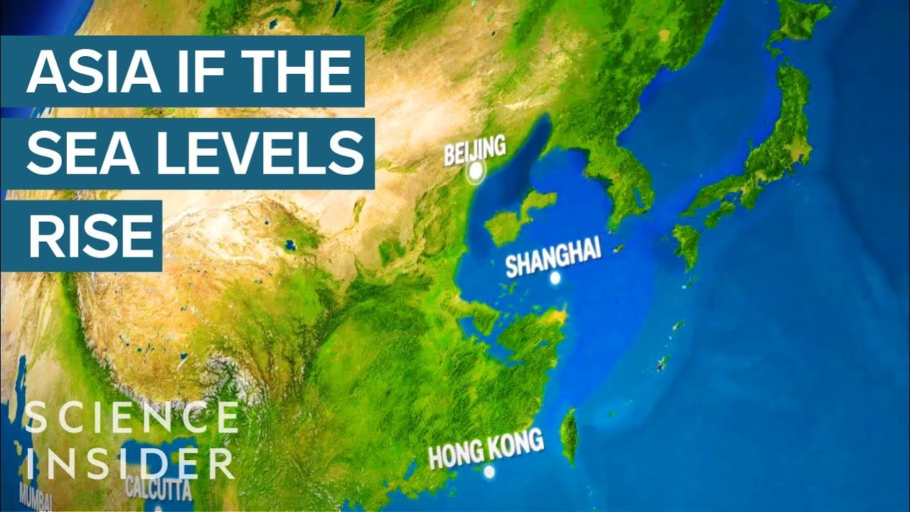 World Map If Sea Levels Rise.What Asia Would Look Like If All The Earth S Ice Melted Youtube