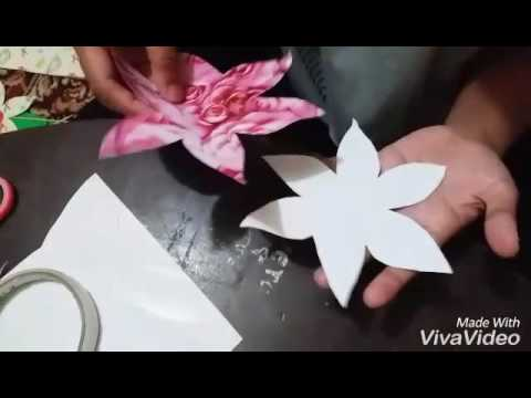 Cara Membuat Bunga Tempel Dari Kertas Kado By Rahmi Y 1502090034 3 A