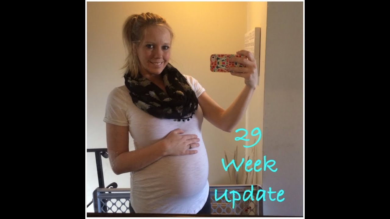 29 weeks pregnant!! Update and belly shot!! - YouTube
