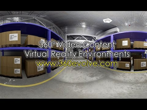 Virtual Warehouse created for real VR environment - 360 Video
