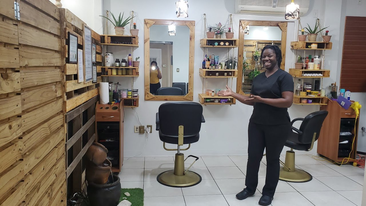 Salon Clinic from Pallet/How I Designed Rustic Natural Hair Salon/Salon tour in the Cayman islands | Salon và các thông tin mới nhất