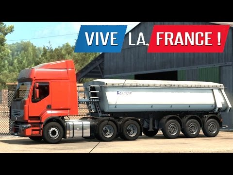 ETS 2 - Vive la France DLC - Trailer Pickup from Limoges |