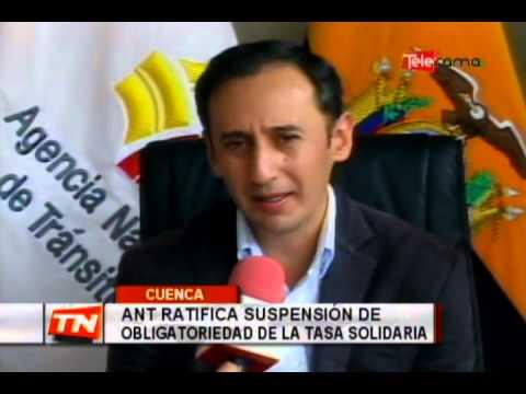 ANT ratifica suspensión de obligatoriedad de la tasa solidaria