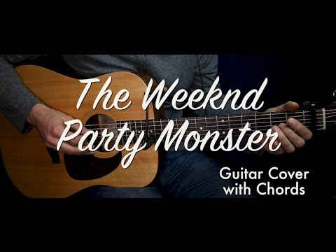 The Weeknd Party Monster Guitar Cover Guitar Lessontutorial