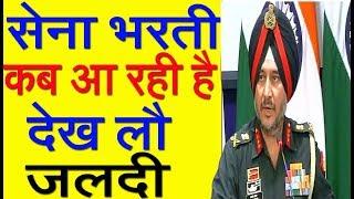All India Army Bharti Calendar 2018-19