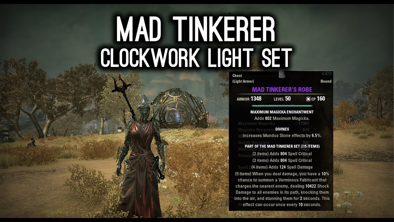 Mad Tinkerer Light Armor New Set - Clockwork City DLC