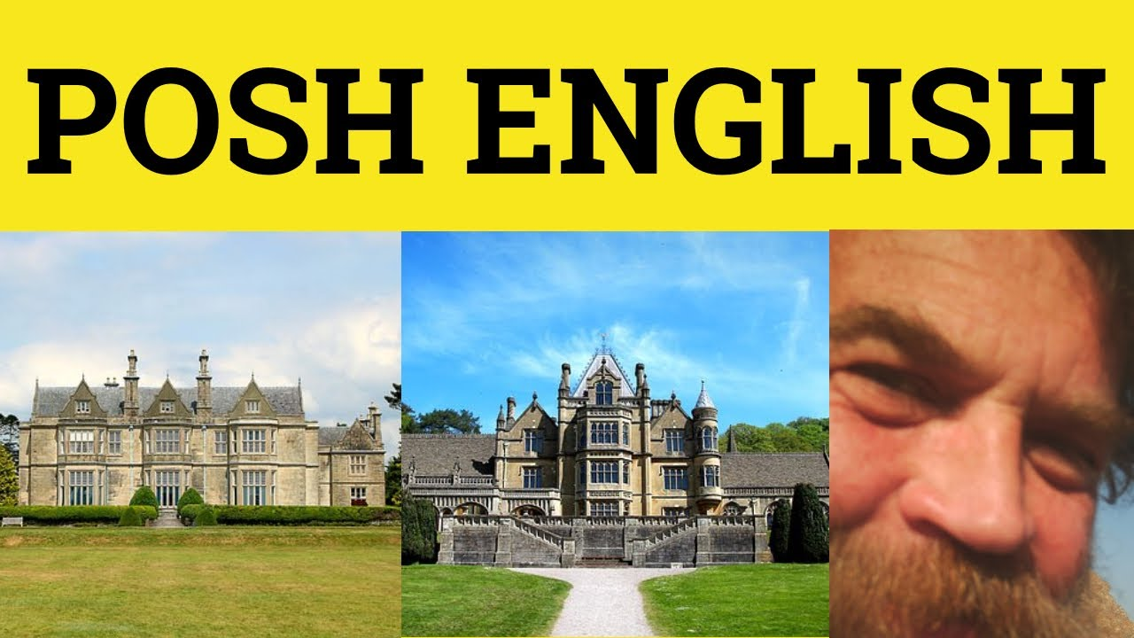 posh vocabulary upper class english words received