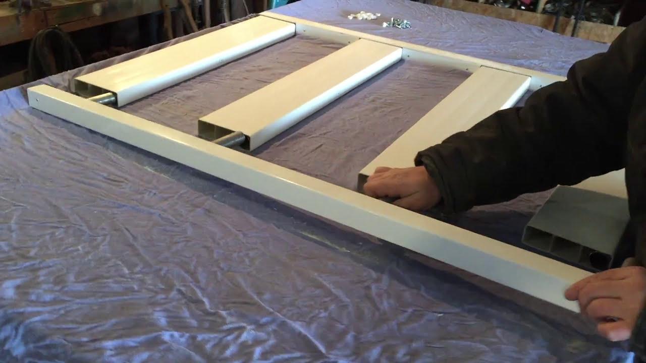 Vinyl Ranch Rail Gate Kit With Steel Frame Youtube