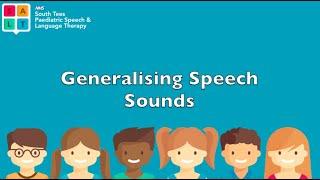 Generalising target speech sounds