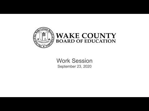 Work Session 9-23-20