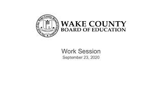Work Session 9-23-20