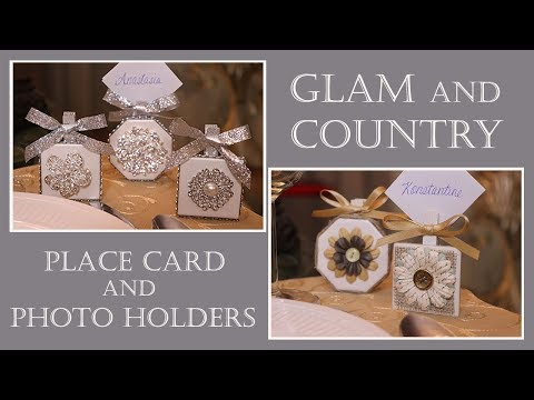 Glam & Country Farmhouse Decor Dollar Tree DIY Place Card Holder