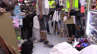 Desmantelados 17 bazares que comercializaban artículos falsificados