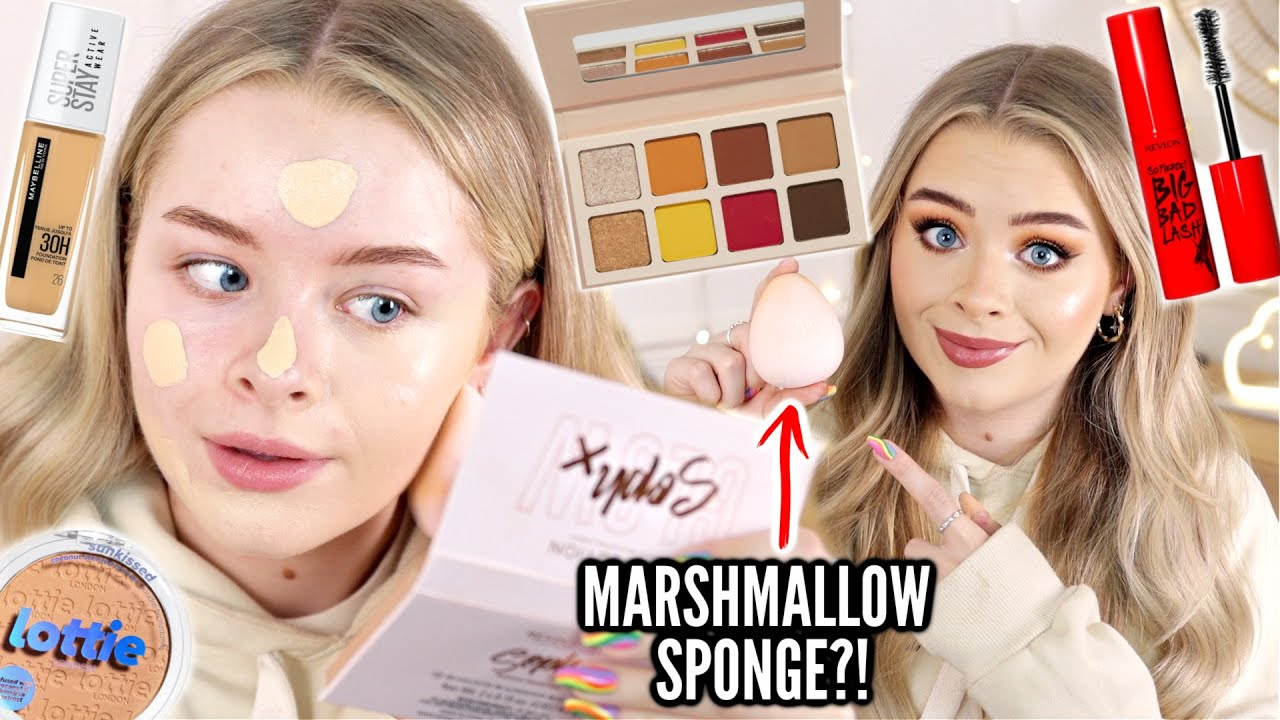 Download FULL FACE OF NEW DRUGSTORE MAKEUP!