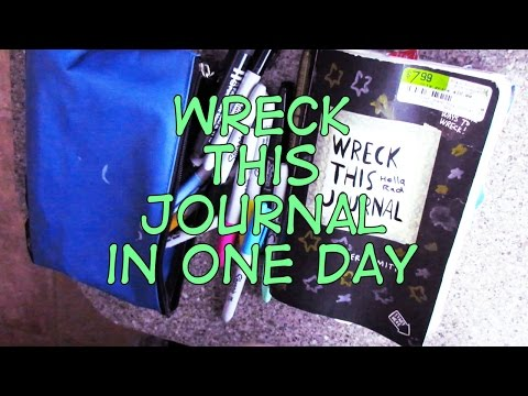 Wreck This (Entire) Journal in One Day! | Adrianna Mary-Anne
