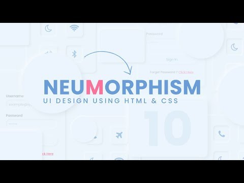 Top CSS Neumorphism UI Design Using Html CSS & Vanilla Javascript