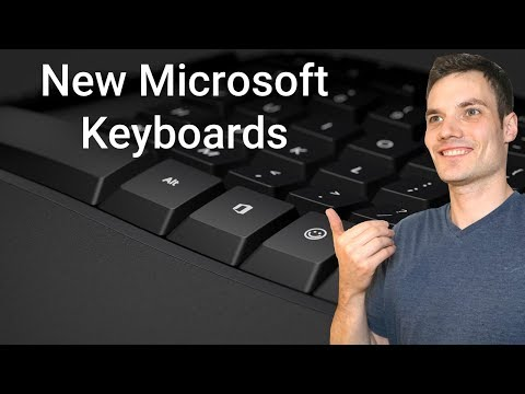 First Look At New Microsoft Keyboards - Including Office & Emoji Keys