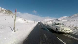 First Snowfall along the A93 Snow Road to Glenshee Ski Centre, Cairngorms, Scotland, Oct 2018