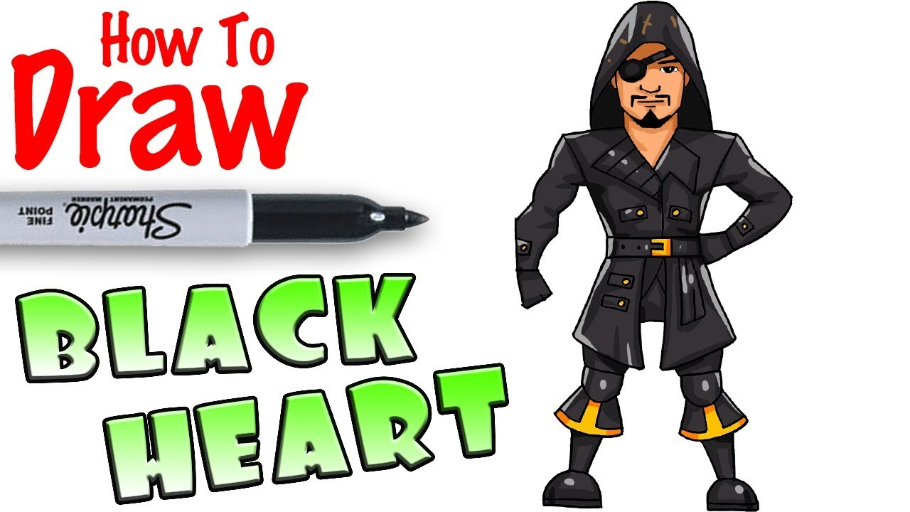 How to Draw Blackheart | Fortnite - YouTube