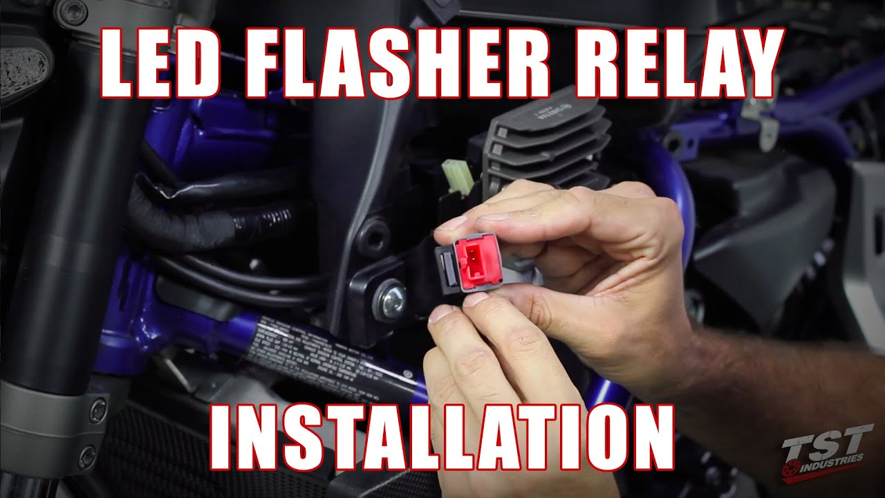 How To Install Led Flasher Relay On A 2015  Yamaha Fz-07 By Tst Industries