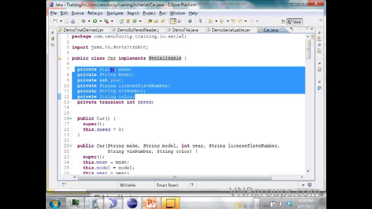 Java serialization tutorial with programming youtube java serialization tutorial with programming baditri Image collections