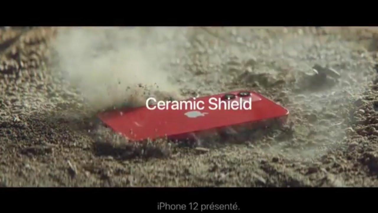 """Musique de la pub iPhone 12 Apple Ceramic Shield – vraiment résistant """"tout va bien c'est un iPhone""""  Juillet 2021"""