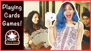 Top 5 Playing Cards Games HINDI   Family & Solo Playing Cards Games   How to Play //Chai And Games screenshot 1