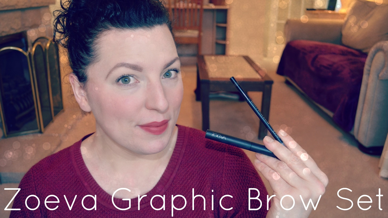 New | ZOEVA Graphic Brow Set Review & Demo - Brow Fix & Pencil in Bistre |  Beauty | Fun | WavyKate