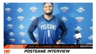 Zion Williamson on returning to bubble, protesting, jersey message | NO Pelicans Conference 7.29.20
