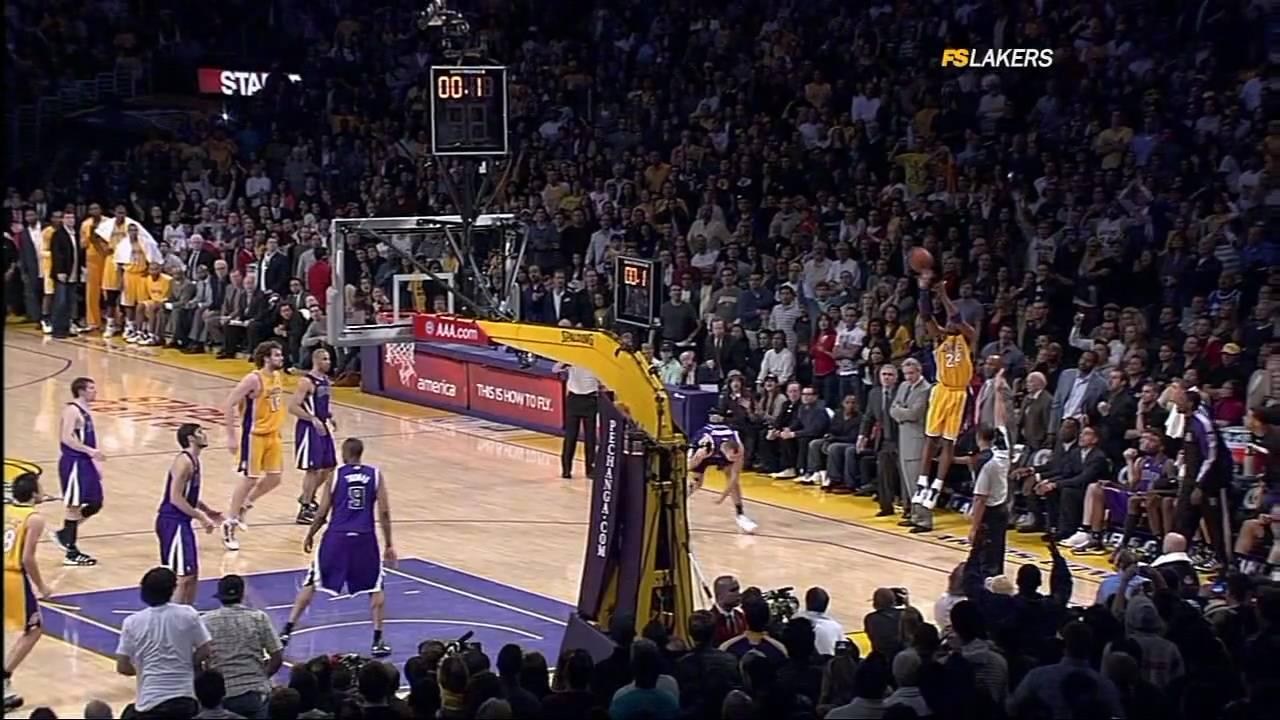 【經典回顧】都知道Kobe要投最後一球,但就是防不住,回顧老大三分絕殺國王!(影)-籃球圈