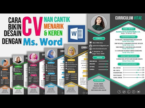 In this PowerPoint Tutorial, I want to show you, How To Make a professional CV for your job, in this.