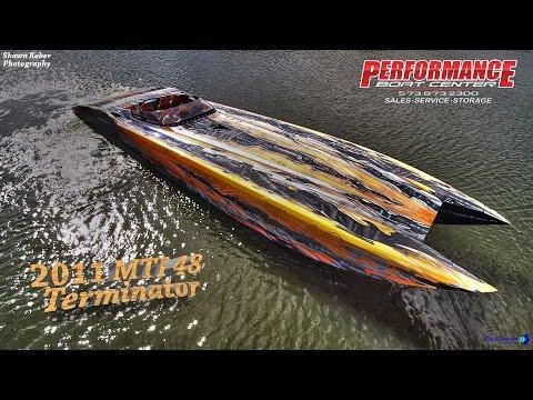 "2011 MTI 48 ""Terminator"" powered by twin Mercury Racing QC4V 1350"