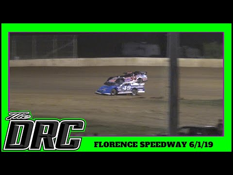 Florence Speedway | 6/1/19 | Phoenix Comfort Systems Crate Late Models | Feature