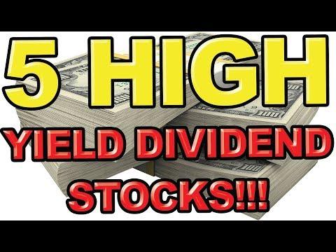5 High Yielding Dividend Stocks for 2019
