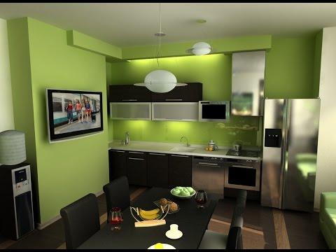 Дизайн Интерьер зеленая кухня Краткий обзор кухни зеленого цвета