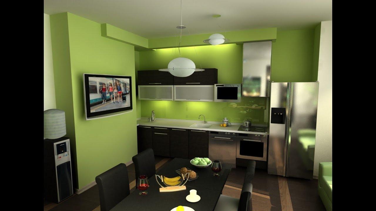 Дизайн Интерьер зеленая кухня Краткий обзор кухни зеленого цвета .