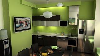 Дизайн Интерьер зеленая кухня Краткий обзор кухни зеленого цвета(Кухня — сердце каждого дома. От интерьера кухни зачастую зависит как много хозяйка будет проводить в ней..., 2014-08-15T09:42:24.000Z)