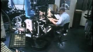 Newspaper production | Linotype | Fleet Street | Typesetting
