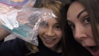 HOW TO SNEAK SLIME ON A PLANE😱  Do we get caught?  We Are The Davises
