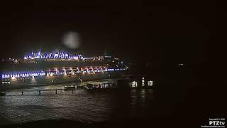 As seen live on https://www.PortBermudaWebcam.com P&O cruise ship A...